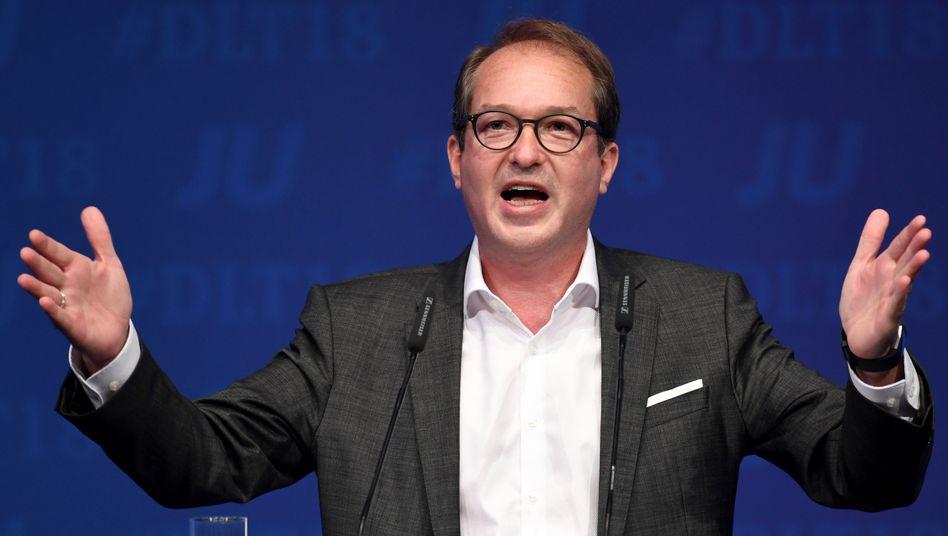 Alexander Dobrindt, Vorsitzender der CSU-Landesgruppe im Deutschen Bundestag