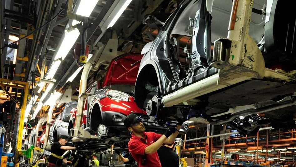 Nissan-Arbeiter im Werk Sunderland