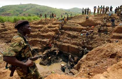 A goldmine in Congo. Warlords and government troops alike have their eyes on the riches of the country.