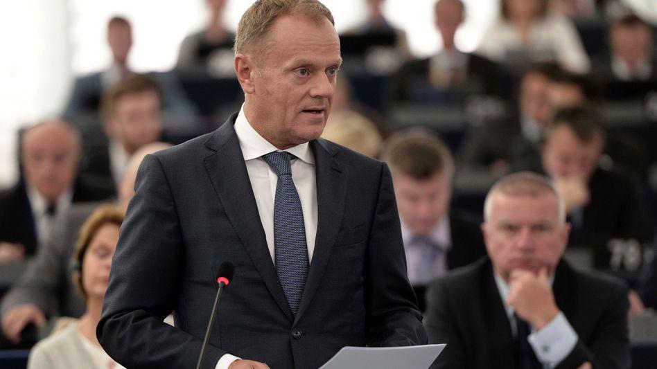 """EU-Ratspräsident Tusk: """"Ein Europa ohne Außengrenzen wird zu einem Nährboden der Angst"""""""