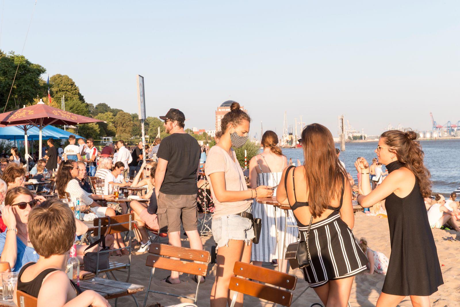 Elbe Beach In Hamburg During The Coronavirus Crisis