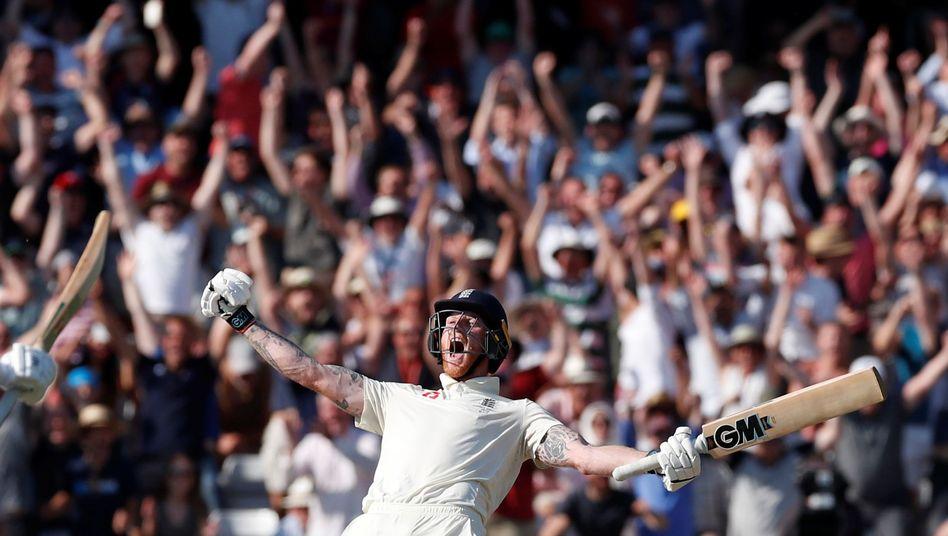 Jubelnder Cricketspieler Ben Stokes: Als wäre er auf dem Mars gelandet