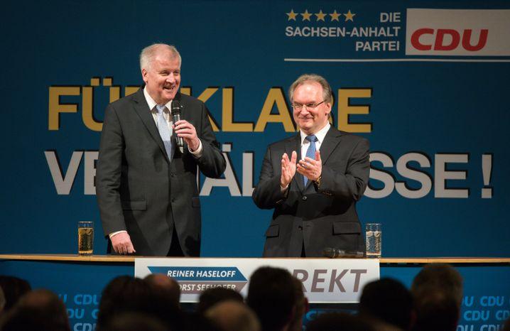 Ministerpräsidenten Seehofer, Haseloff