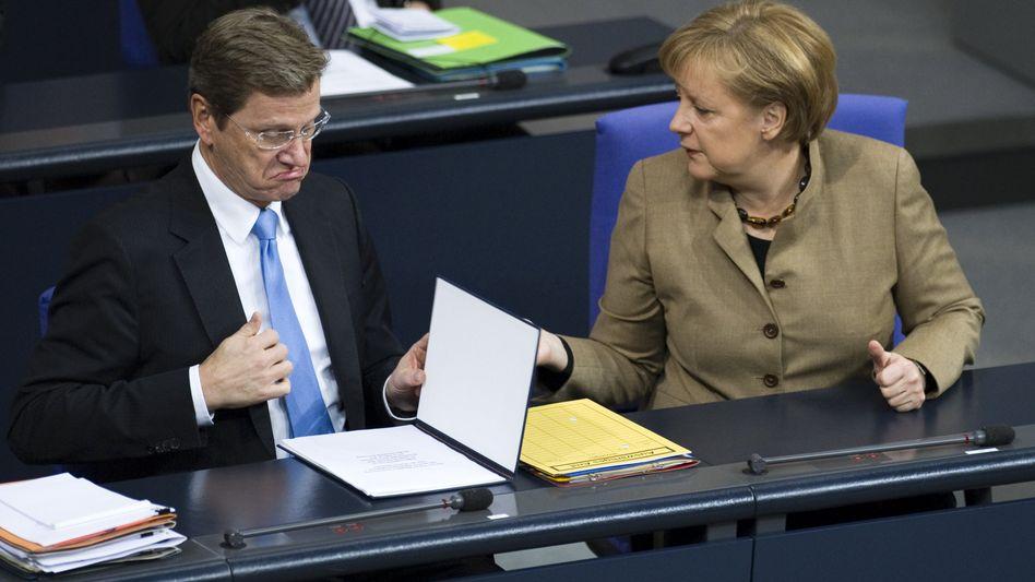 """Westerwelle und Merkel: """"Eher miese Stimmung"""""""