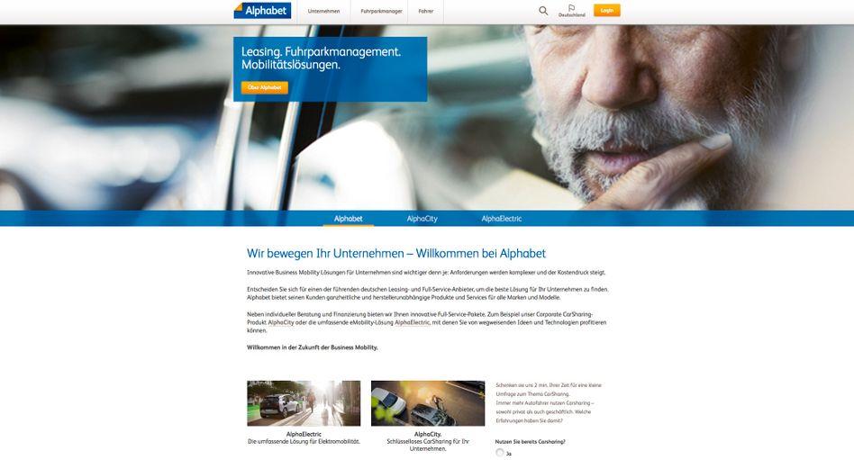 """Screenshot der Alphabet-Website: """"Stark erhöhter"""" Traffic"""