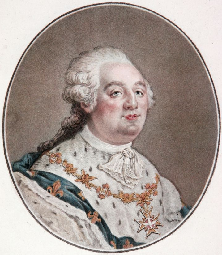 Frankreichs König Ludwig XVI. (1754-1793): Tuch im Kürbis