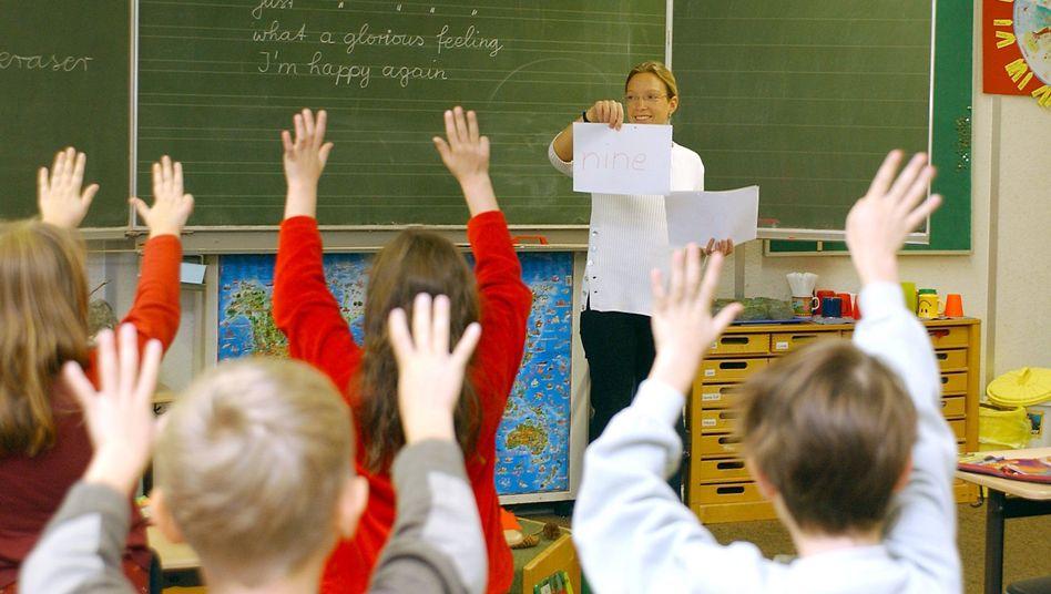 Englischunterricht in einer Grundschulklasse