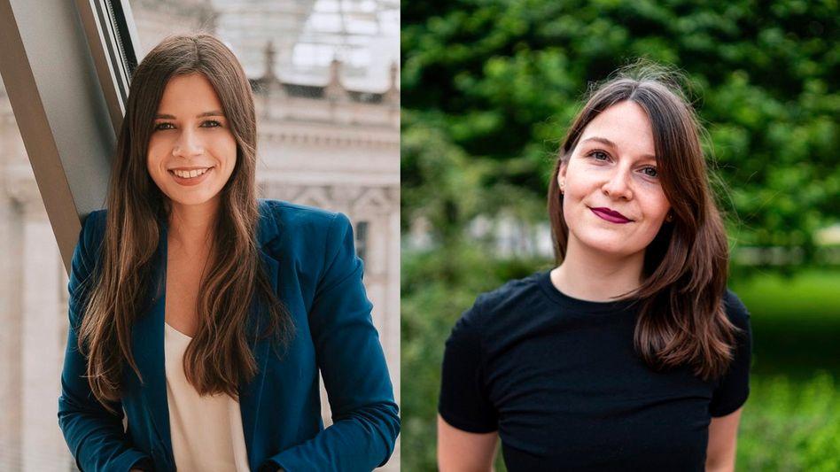 Wollen in den Bundestag: Laura Schieritz (FDP) und Saskia Weishaupt (Grüne)