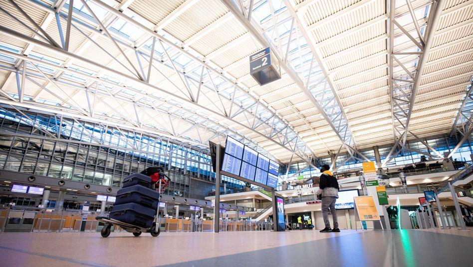Flughafen Hamburg: Die Terminals blieben in den Lockdown-Monaten häufig leer