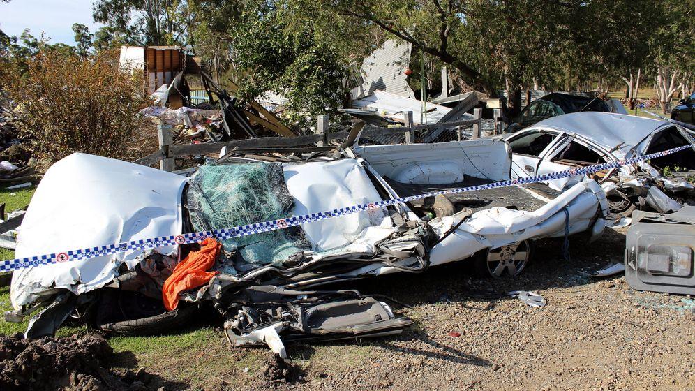 Australien: Mann walzt mit Bulldozer Haus platt