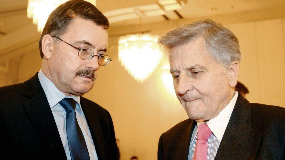EZB-Volkswirt Stark, Präsident Trichet: Schon länger am Kurs gezweifelt