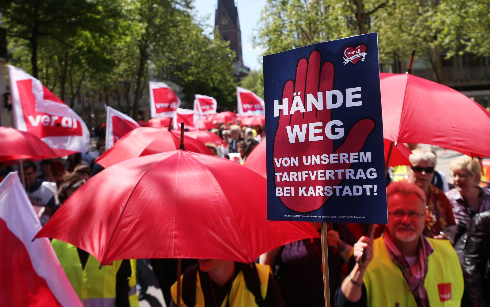 Karstadt / Warnstreik