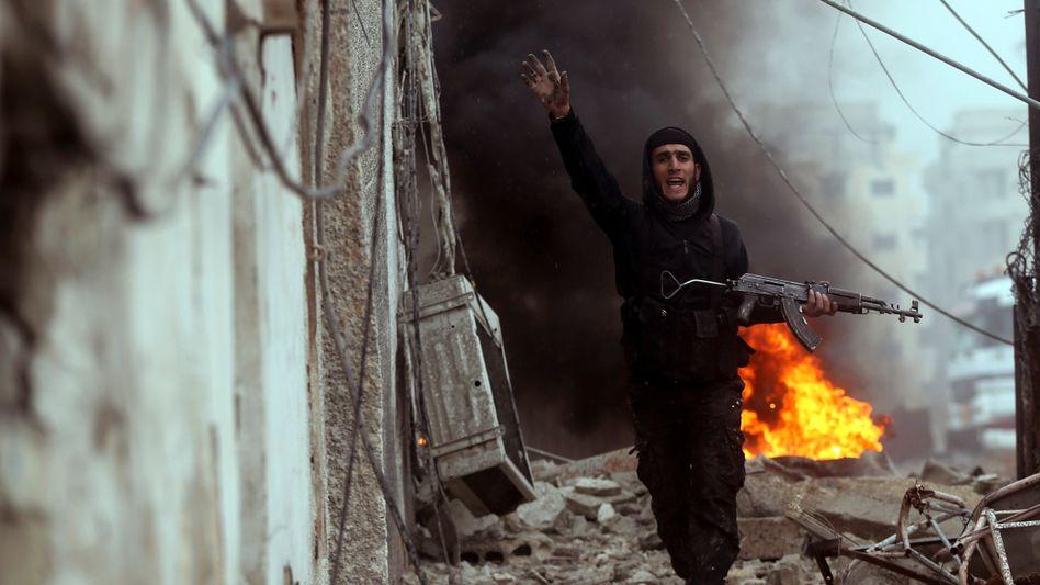 """Rebellenkämpfer in Syrien: """"Wer soll dieses komplett zerstörte Land am Leben erhalten?"""""""