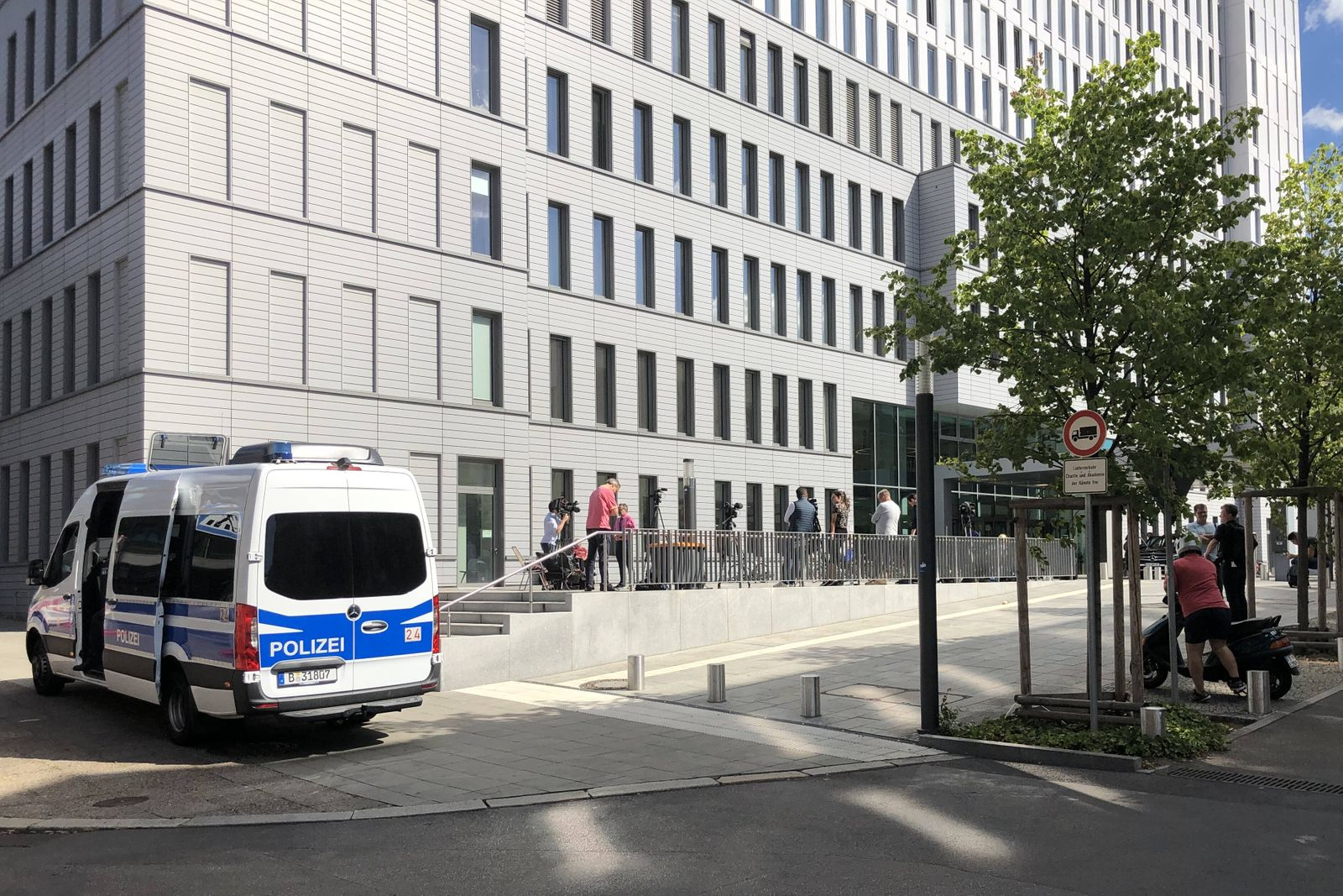BERLIN, GERMANY - AUGUST 23, 2020: A view of Berlin s Charite hospital, where Russian opposition activist Alexei Navaln