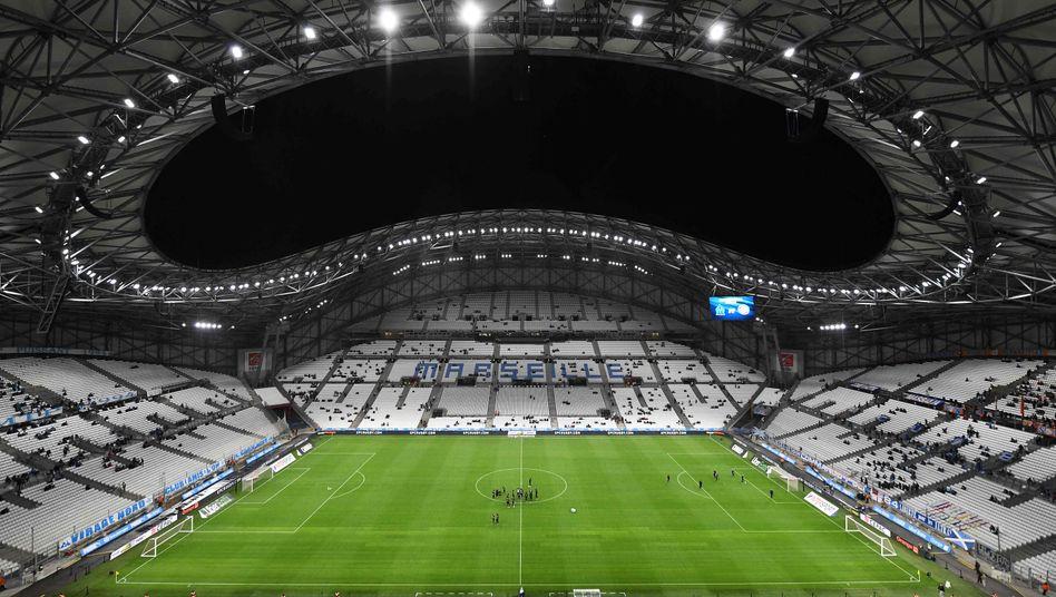 Das Stadion von Olympique Marseille bleibt am Freitag leer