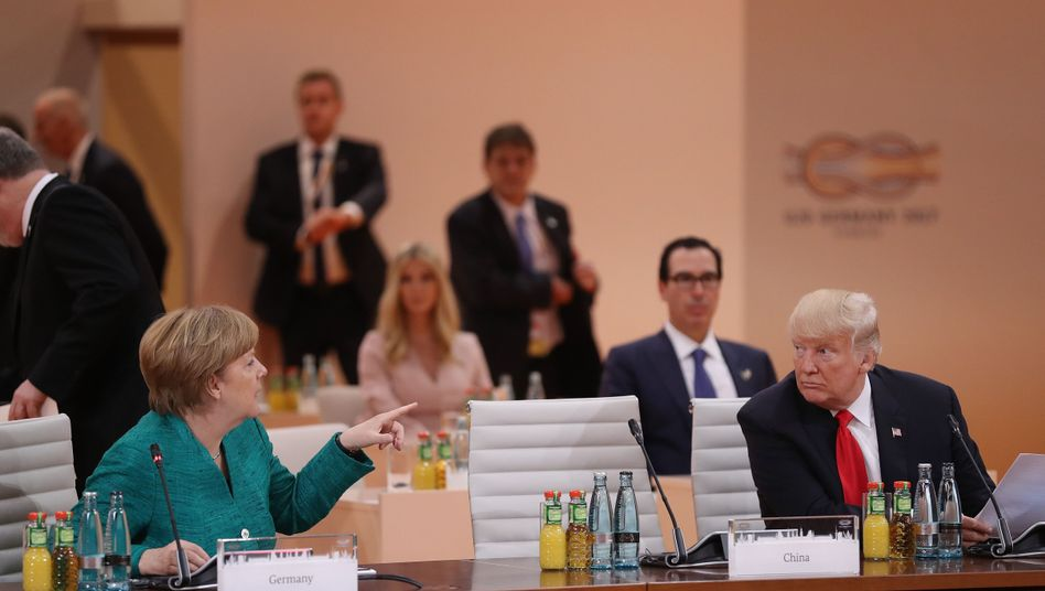 Angela Merkel und Donald Trump (Juli 2017 in Hamburg)