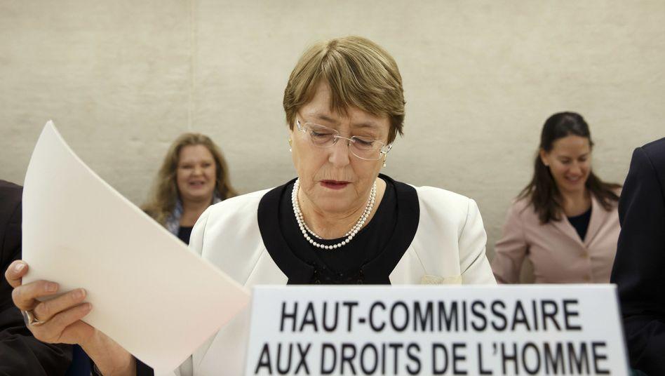 Michelle Bachelet, Hohe Kommissarin der Uno für Menschenrechte, in Genf (März 2019)