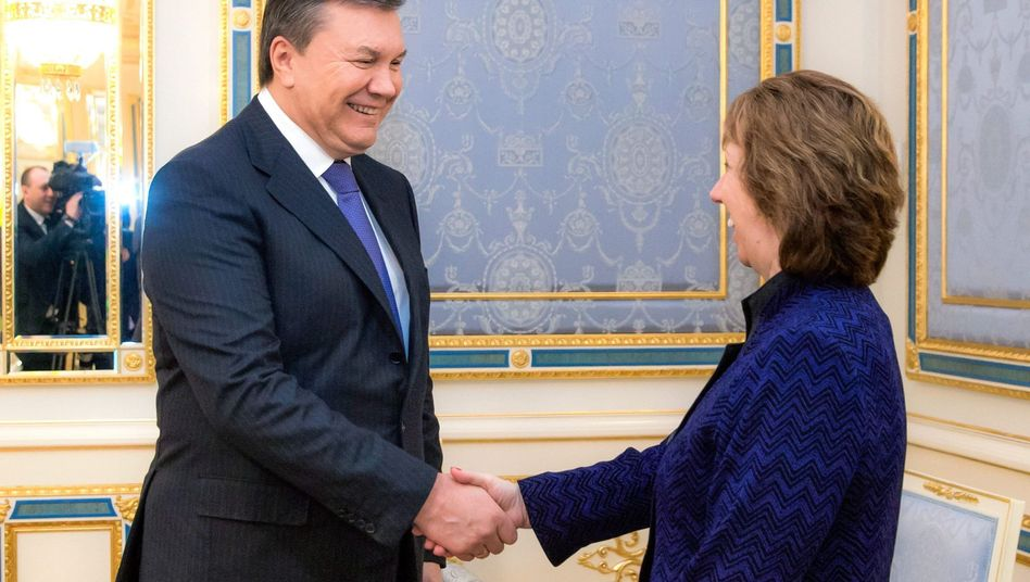 Präsident Janukowitsch trifft Ashton: Keine schnelle Lösung in Sicht