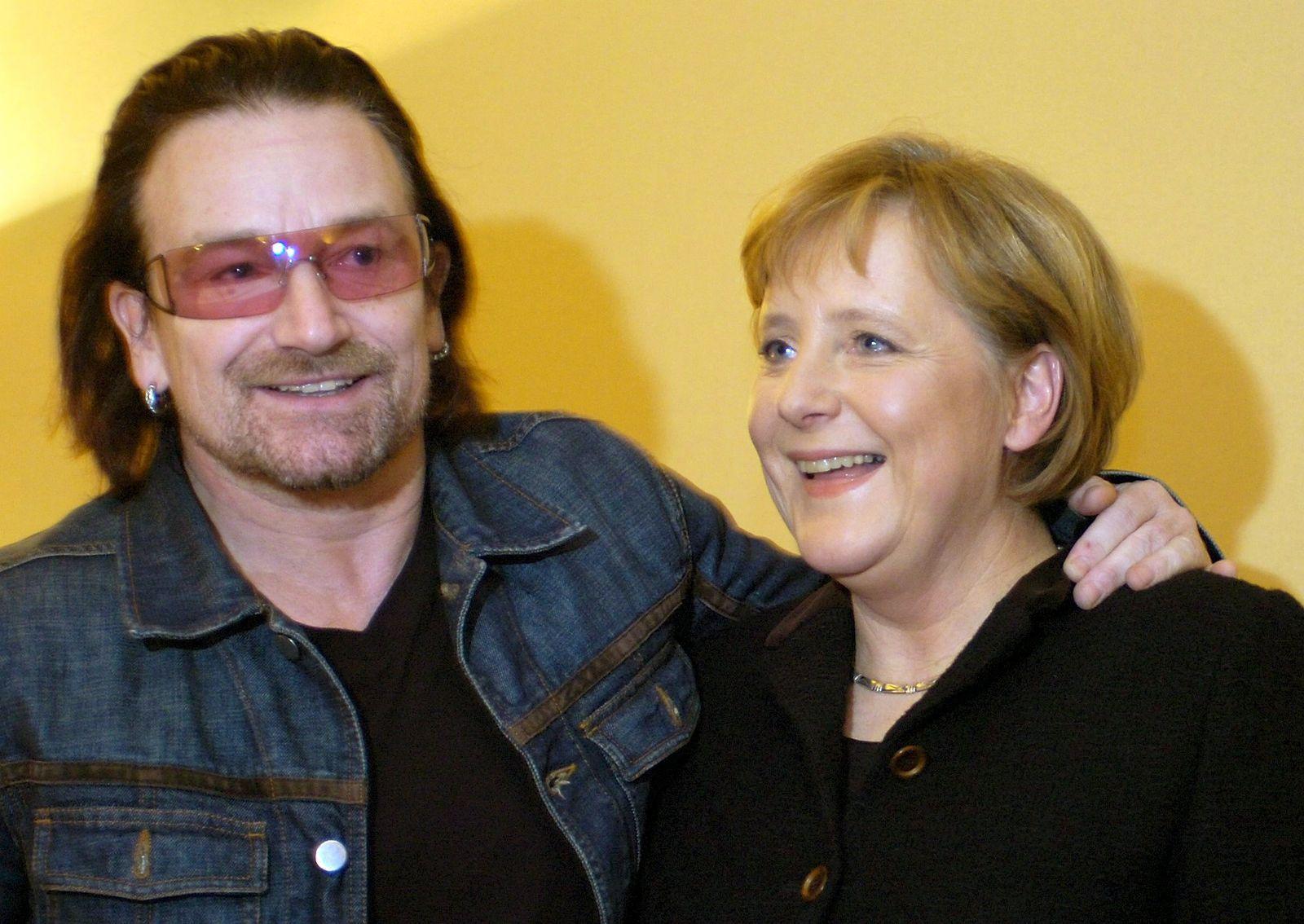 Merkel 2006/ Bono