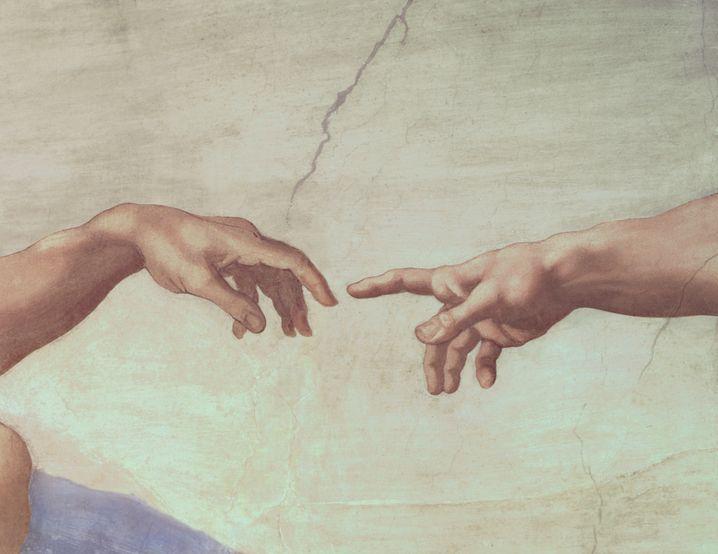 »Die Erschaffung Adams« – Fresko von Michelangelo