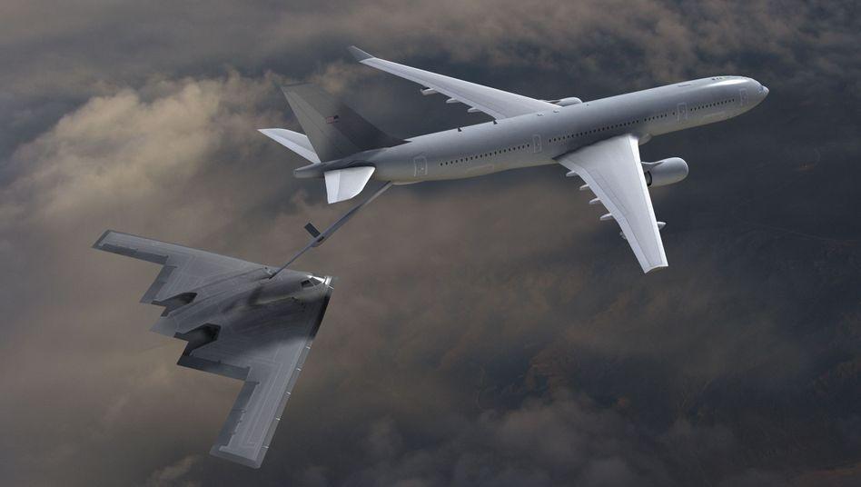 Computergrafik eines Tankflugzeugs: Konkurrenz für EADS und Boeing