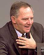 Schäuble bei seiner Rede im Bundestag