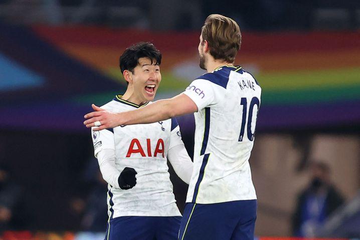 Son Heung-min und sein Sturmpartner Harry Kane