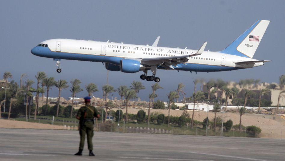 """Mächtige Maschine: Die Triebwerke der """"Air Force Two"""" beschädigten ein anderes Flugzeug."""