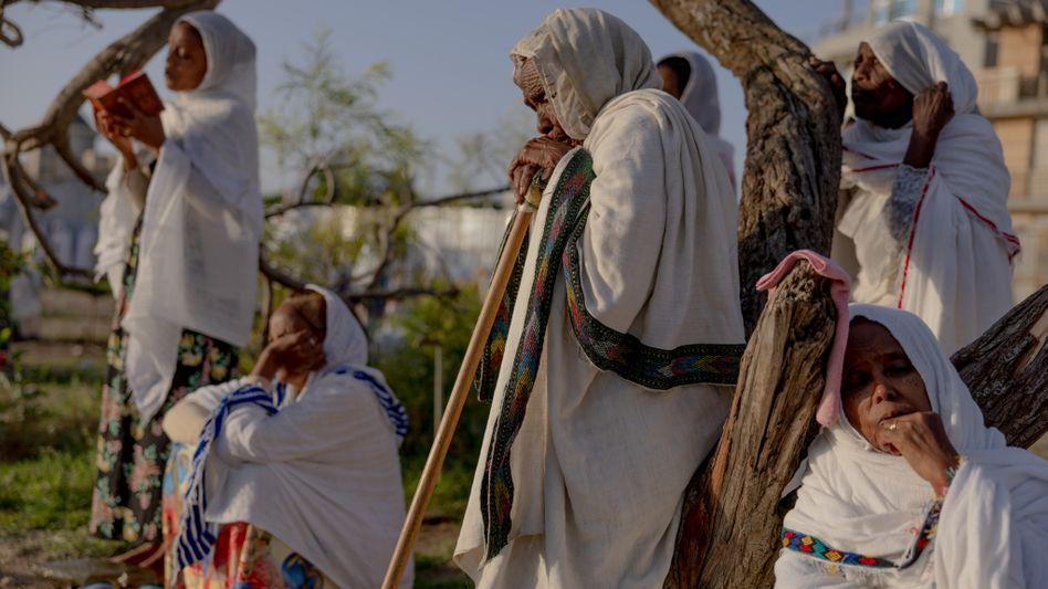 Betende tigrayische Frauen in Mekelle