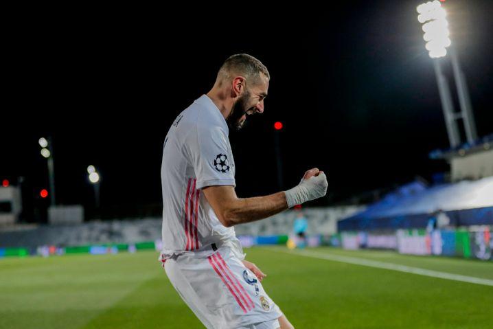 Benzema ganz nah: Jubel nach seinem zweiten Treffer