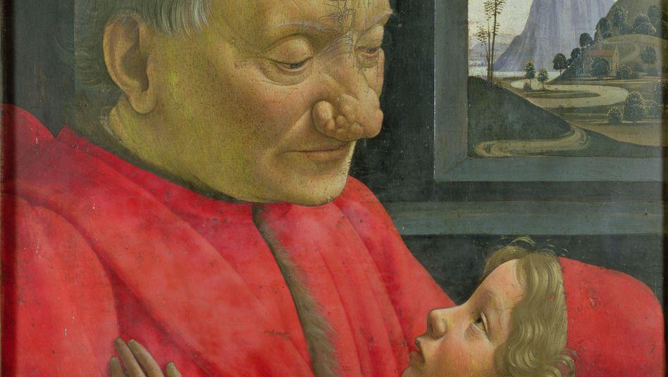"""""""Alter Mann mit Enkel"""" von Domenico Ghirlandaio aus dem 15. Jahrhundert: Einige von Rosazea Betroffene entwickeln eine Knollennase"""