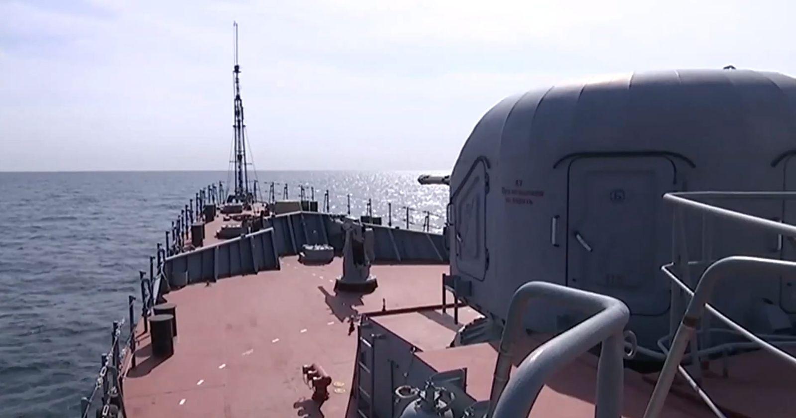 Russian Caspian sea-based cruise missiles strike in Syria