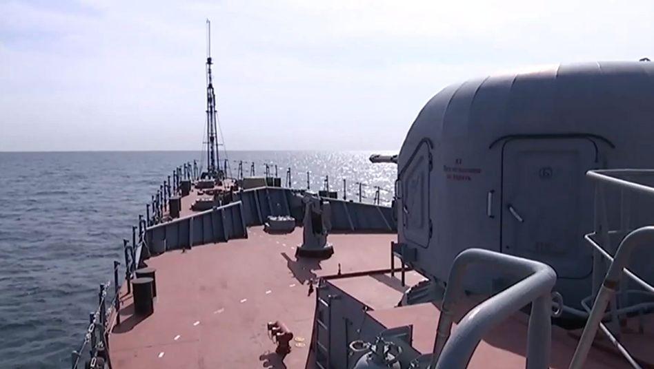Russisches Militärschiff im Kaspischen Meer: Versehentlich Iran getroffen?