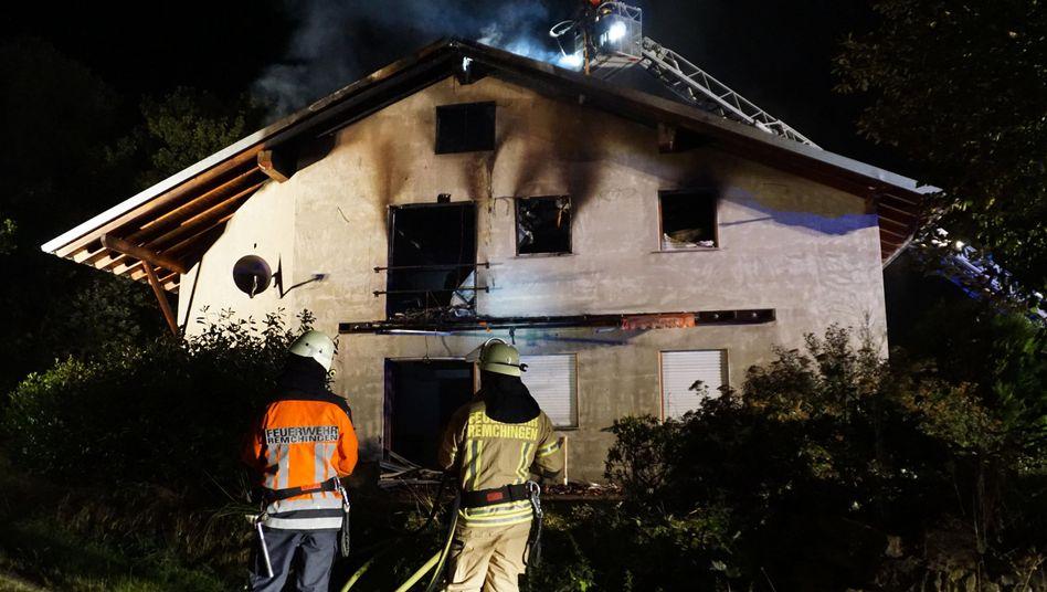 Feuer in künftiger Flüchtlingsunterkunft in Remchingen (Archivbild): 76 Brandstiftungen in 2015