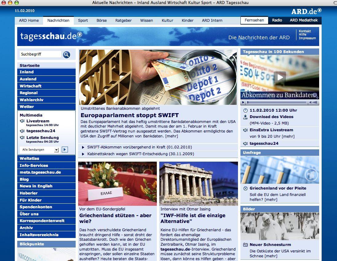 NUR ALS ZITAT Screenshot / Tagesschau.de