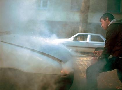 Motorbrand: Zum Löschen bleiben einige Minuten Zeit