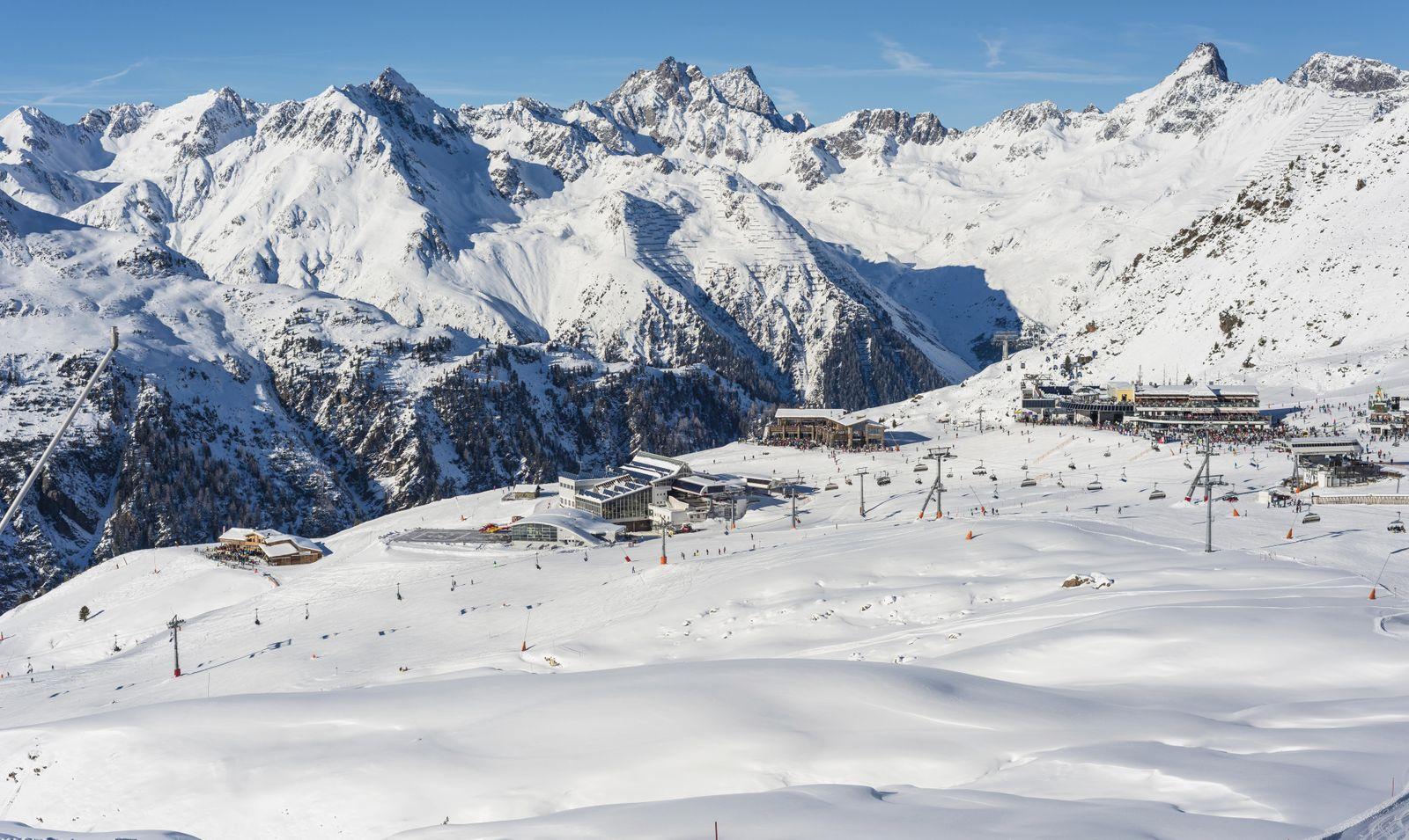 Skigebiet Silvretta Arena, Idalp, Ischgl, Paznauntal, Tirol, Österreich, Europa
