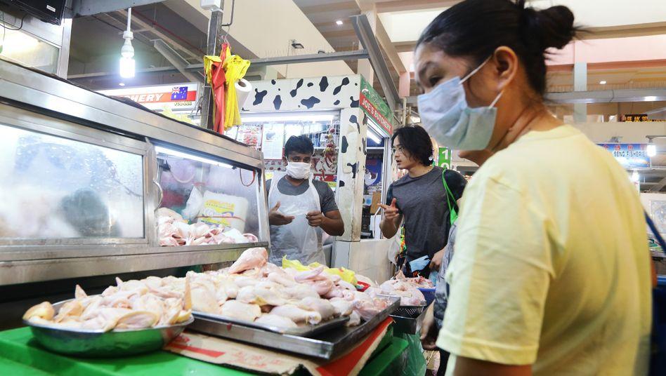 Fleischmarkt in Singapur: Weltweit wächst der Fleischkonsum stark