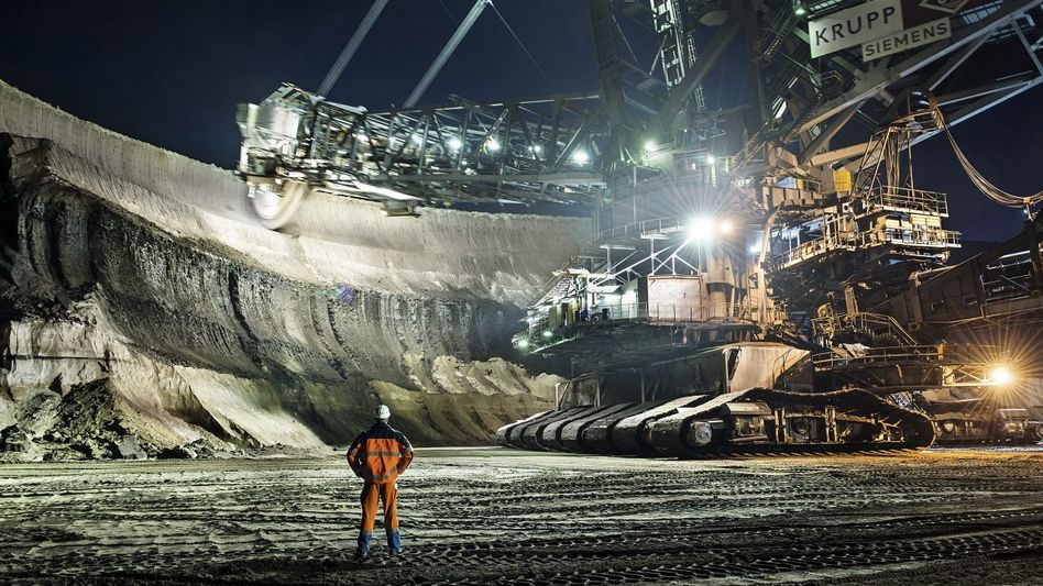 RWE-Tagebau in Nordrhein-Westfalen