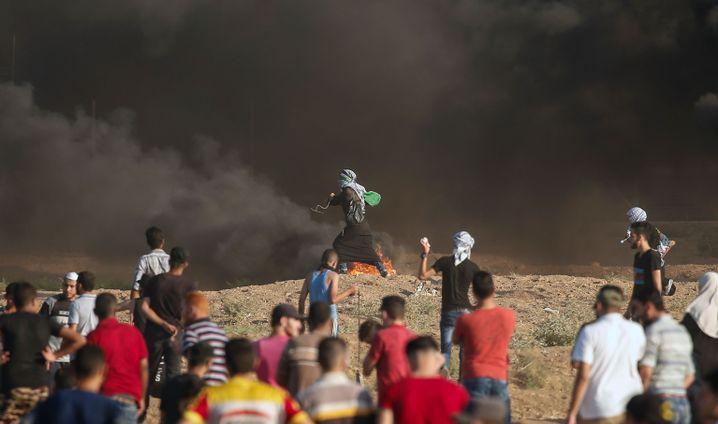 Auseinandersetzungen an der Grenze zum Gazastreifen