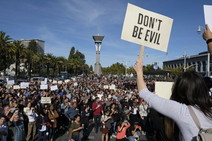 Google-Mitarbeiter bei Protestmarsch in San Francisco