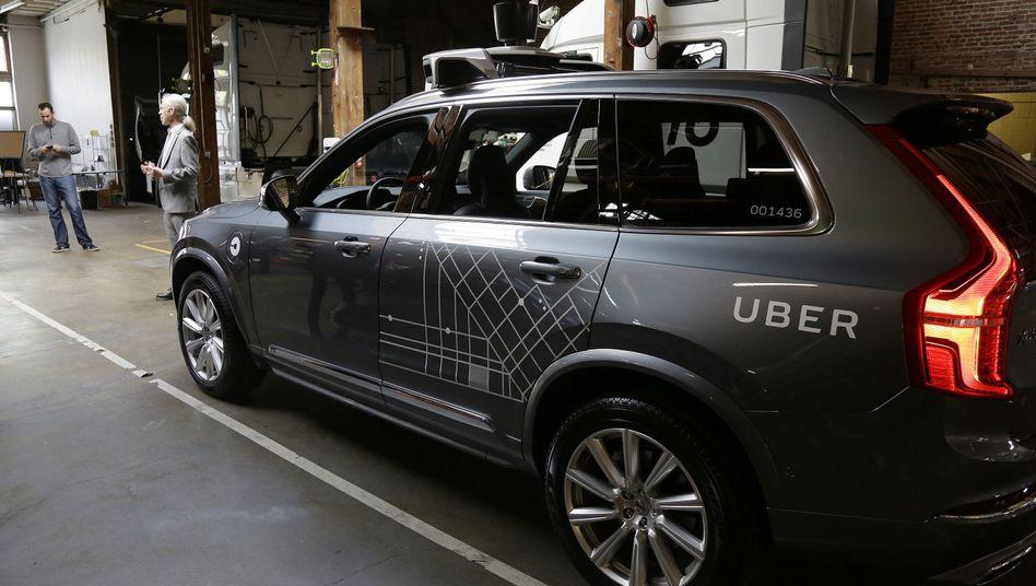 Roboterwagen von Uber in San Francisco