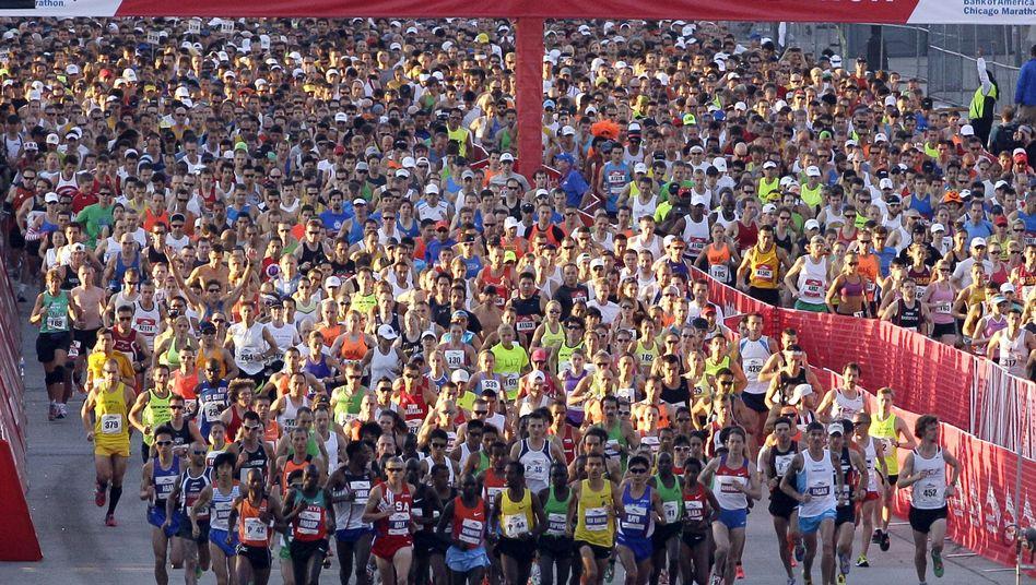 Teilnehmer des Chicago-Marathons: Ständig zu viel gelaufen