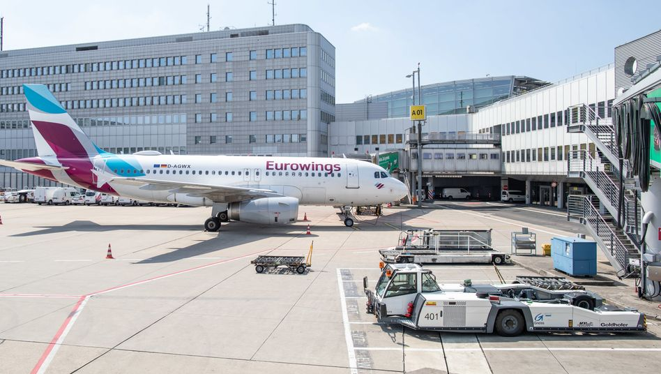 Eurowings-Maschine in Düsseldorf