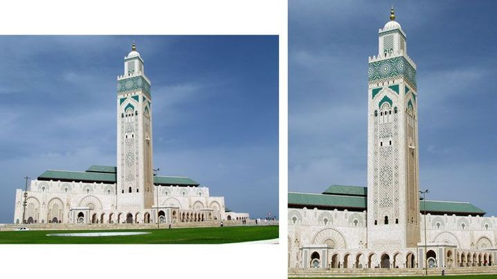 Der Turm hat je nach Format eine ganz andere Wirkung