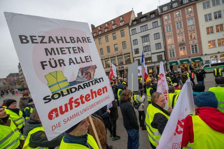 Kundgebung in der Münchner Innenstadt