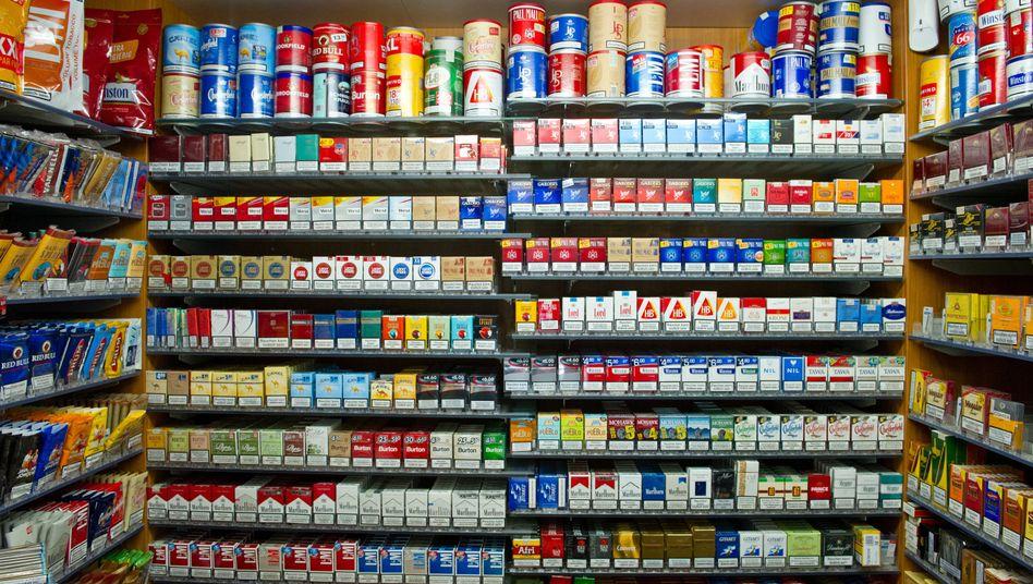 Tabakwaren in einem Kiosk in Stuttgart (Archiv): Angst vor der Einheitspackung