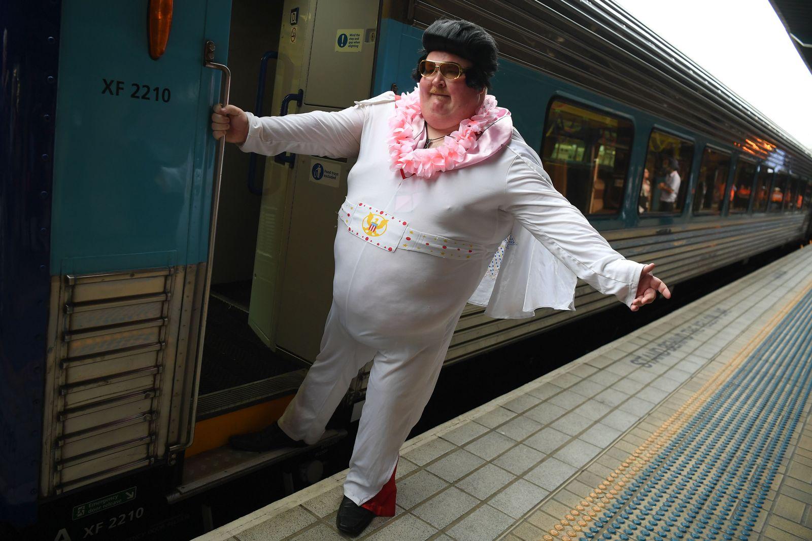 Elvis Express at Central Station in Sydney, Australia - 09 Jan 2020
