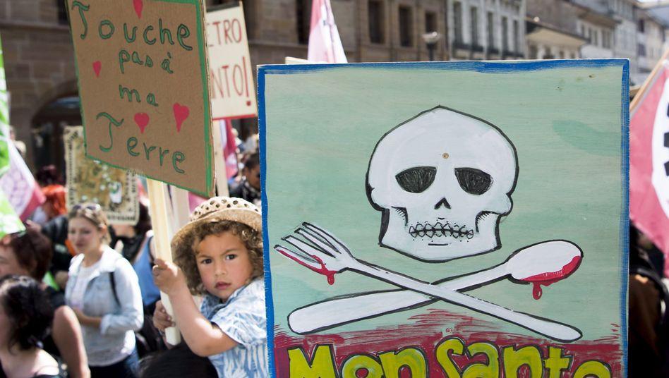 Demonstration gegen Monsanto