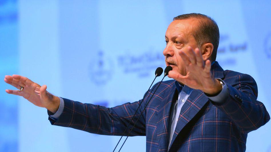 Recep Tayyip Erdogan am Samstag in Istanbul
